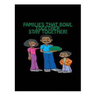 Families That Bowls Together Postcard