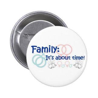 Familly-está sobre el perno del tiempo pin