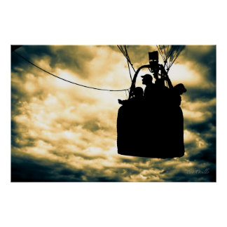 Family Adventure Hot Air Balloons Poster