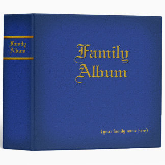 Family Album Blue binder