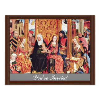 Family Altar Middle Panel: The Mystical Marriage O 4.25x5.5 Paper Invitation Card