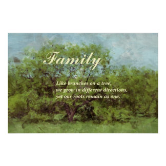 Family: Although we may grow apart we remain one Poster