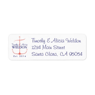Family Anchor Return Address Label