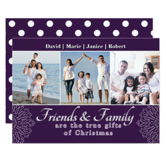 Family and Friends Holiday Photo Card