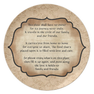 Family and Friends Traveling Party Plate
