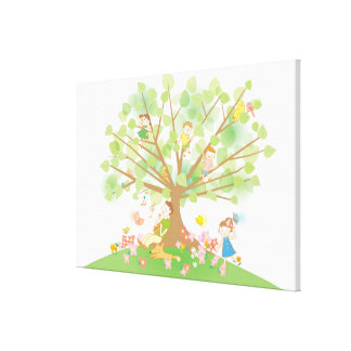 Family and Tree Gallery Wrapped Canvas