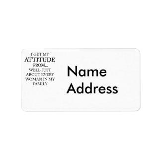 Family Attitude Label