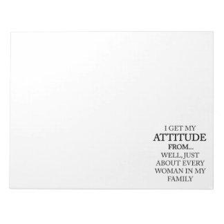 Family Attitude Notepad