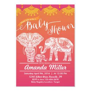 Indian baby shower invitations zazzle family baby shower indian inspiration india invitation filmwisefo