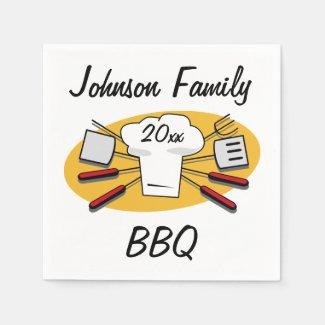 Family BBQ Paper Napkins