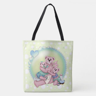 FAMILY BEAR LOVE All-Over-Print Tote Bag Large