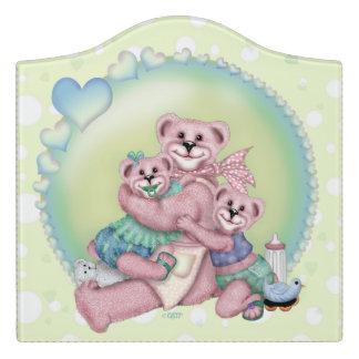 FAMILY BEAR LOVE CARTOON  Crest Large Room Sign