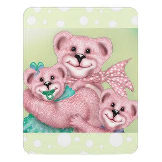 FAMILY BEAR LOVE CARTOON  Crest Large Room Sign 5
