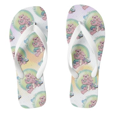 Beach Themed FAMILY BEAR LOVE  Flip Flops Adult, Wide Straps