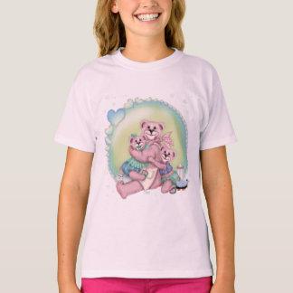 FAMILY BEAR LOVE Girls' Hanes TAGLESS® T-Shirt
