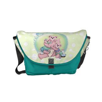 FAMILY BEAR LOVE Rickshaw Messenger Bag SMALL
