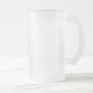 Family Bowling 16 Oz Frosted Glass Beer Mug