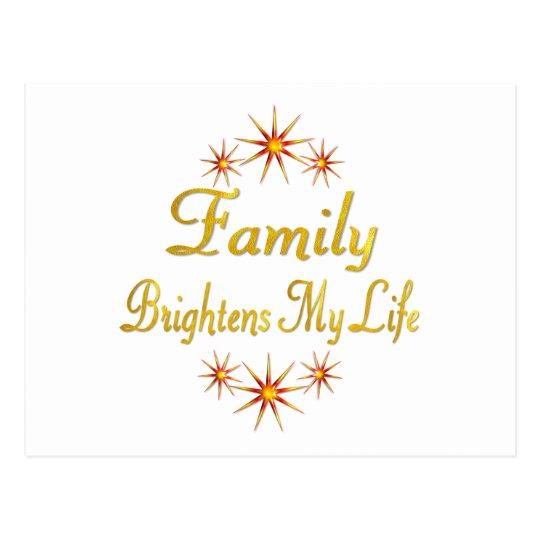 Family Brightens My Life Postcard