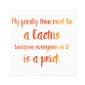 Family Cactus Canvas Print