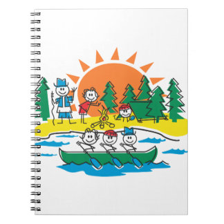 Family Camping Spiral Notebook