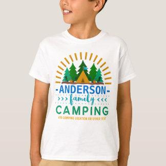 Family Camping Trip Sun Ray Tent | Custom Name T-Shirt