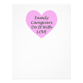 Family Caregivers Do It With Love Letterhead
