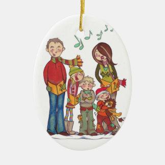 Family Caroling *CUSTOMIZABLE* ornament