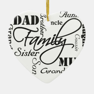 Family Ceramic Ornament