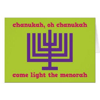 Family Chanukah greeting card