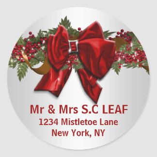 Family Christmas address seals PERSONALIZE