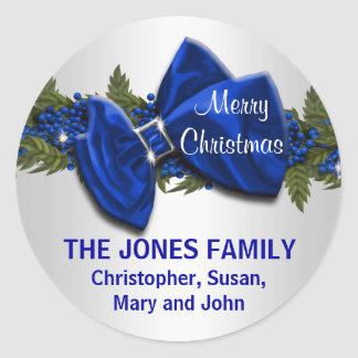 Family Christmas greeting seals PERSONALIZE Sticker