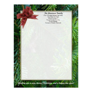 Family Christmas Letter, Personalized Letterhead