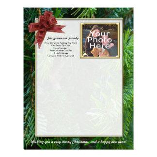 Family Christmas Letter, Photo Letterhead