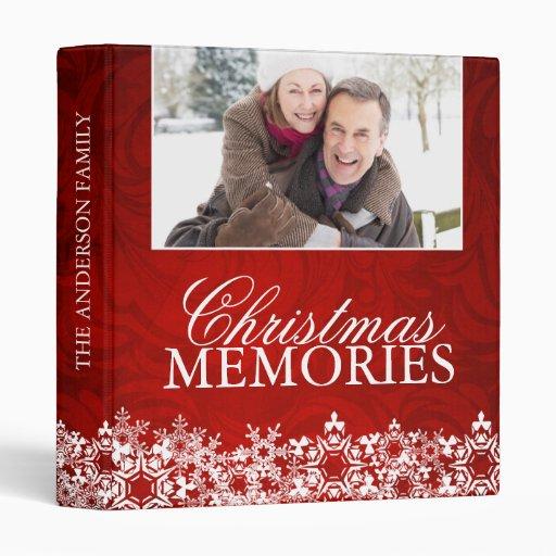 Family Christmas Photo Album 3 Ring Binders