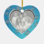Family Christmas Photo Ceramic Ornament