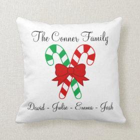 Family Christmas Pillow
