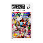 Family Christmas Postage Stamps