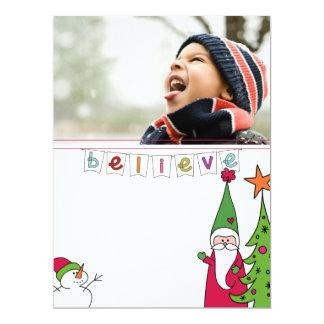 family christmas potriat photo card