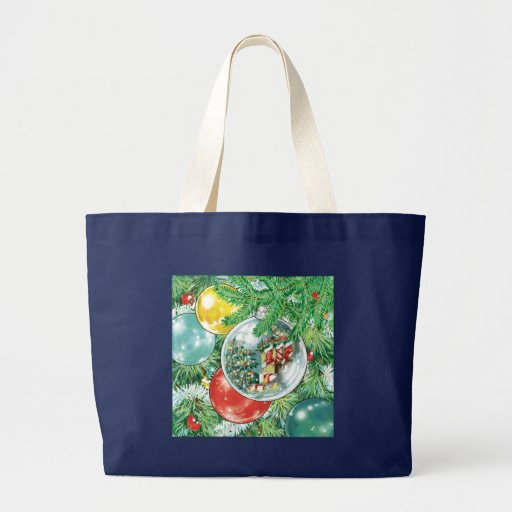 Family Christmas Tree Reflection Painting Bags