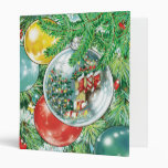 Family Christmas Tree Reflection Painting 3 Ring Binders