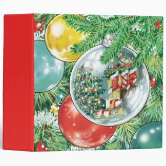Family Christmas Tree Reflection Painting Binders