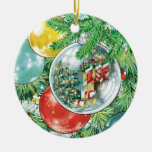 Family Christmas Tree Reflection Painting Christmas Ornament