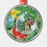Family Christmas Tree Reflection Painting Christmas Tree Ornament