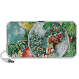 Family Christmas Tree Reflection Painting Travelling Speaker