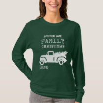 Family Christmas Tree Truck | Personalize It! T-Shirt