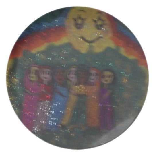 family circle,friends by mandy ashby , plate