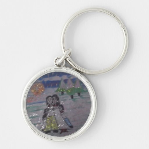 family circle,snowflakes,by mandy ashby key chains