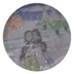 family circle,snowflakes,by mandy ashby,plate