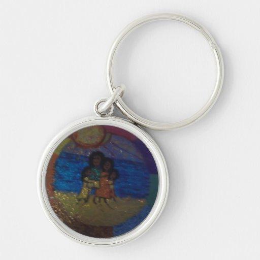 family circle,sunshine,by mandy ashby key chain
