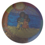 family circle,sunshine,by mandy ashby,plate